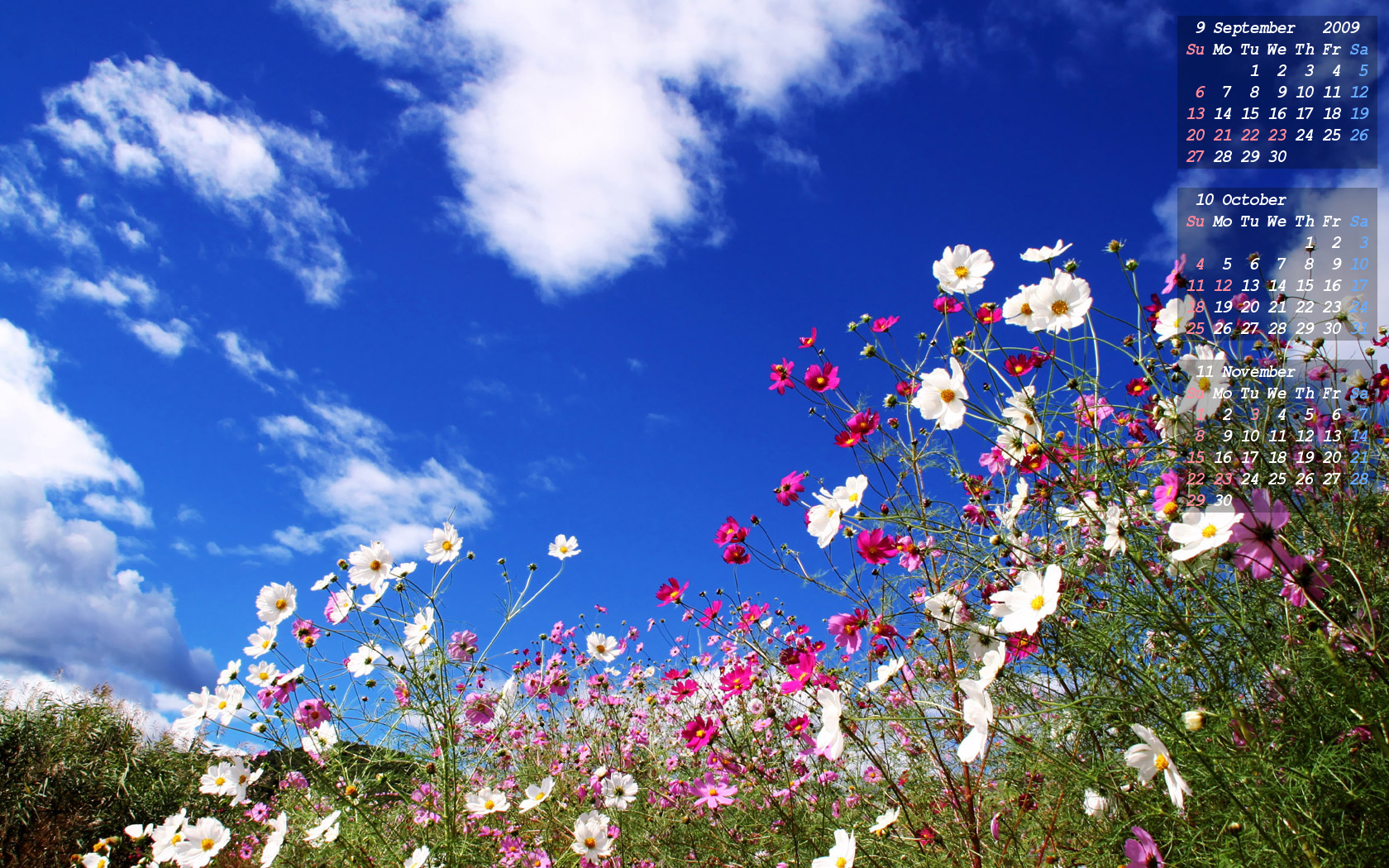 空の壁紙カレンダー 09年9月 10月 11月 Skyseeker 空 雲の無料写真サイト